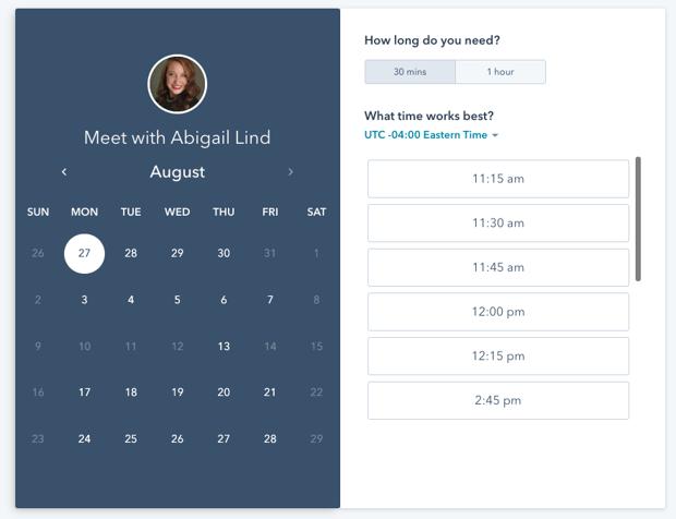 HubSpot meeting scheduling